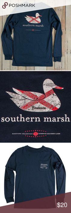 NWOT Southern Marsh Authentic Alabama Heritage Tee NWOT. Navy. Southern Marsh Shirts Tees - Long Sleeve