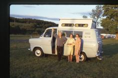 35mm SLIDES : BRITISH VINTAGE CAMPER VAN & CAMP SITE 1970's