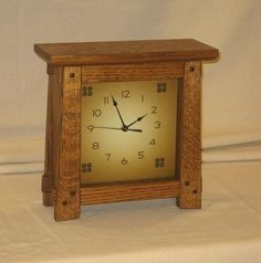 Arts & Crafts Mission Style Clock White by EverLastingFurniture, $135.00 Craftsman Clocks, Craftsman Furniture, Craftsman Style Bungalow, Craftsman Homes, Arts And Crafts Furniture, Furniture Projects, Mission Style Furniture, Arts And Crafts For Adults, Sand Crafts