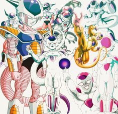 Dragon Ball Z, Akira, Lord Frieza, Pokemon, Ball Drawing, Db Z, Pictures To Draw, Art Forms, Concept Art