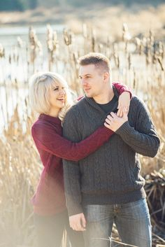 Maroon and Navy Cable-Knit Sweaters for a Winter Engagement Session | L Estelle Photography | See more! http://heyweddinglady.com/enchanted-winter-woods-engagement-from-lestelle-photography/