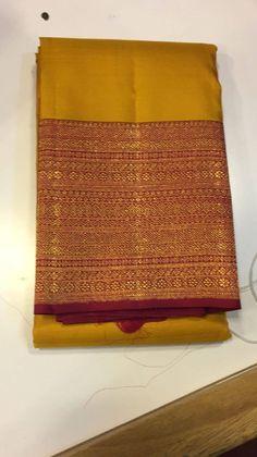 Kajeevaram. Classic design with a stunning border.