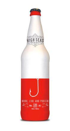 High Seas Brewing Co. Packaging by Brennan Gleason Beverage Packaging, Bottle Packaging, Brand Packaging, Design Packaging, Coffee Packaging, Food Packaging, Branding, Label Design, Graphic Design
