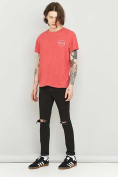 Rolla's Stinger Black Ripped Skinny Jeans