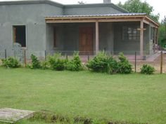 Casa de Campo Villa Jardin Cute House, Backyard, Patio, Spanish Colonial, Facade House, Steel Frame, Building A House, House Plans, Sweet Home