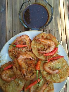 Prawn Fritters, Indonesian Food, Seafood, Easy Meals, Food And Drink, Menu, Cooking Recipes, Snacks, Videos