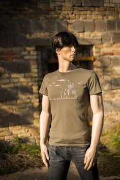 blow away T-Shirt FAIR WEAR for men #military #graphic #tee von #naaknaak #etsy 34,90€