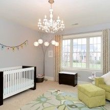 I like the simplicity of this baby room.