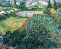 Field with Poppies, by Vincent van Gogh, 1889