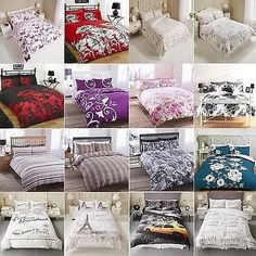 luxury duvet set quilt cover bedding with pillowcase single double or king size pieridae