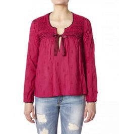 cotton embroided l/s blouse from Odd Molly
