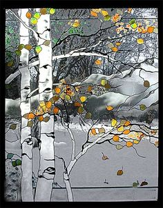 These four panels are meant to be hung side-by-side to create a scene depicting the four seasons. Title: Four Seasons Mt. Sopris...   2 of 4