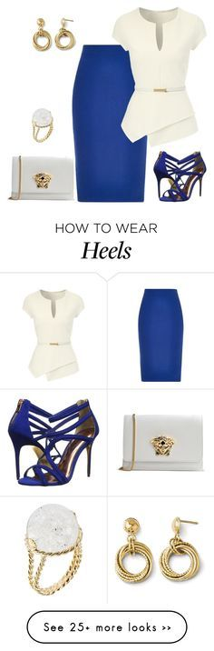 """""""outfit 2454"""" by natalyag on Polyvore featuring River Island, Jane Norman, Ted Baker, Versace and Aurélie Bidermann"""