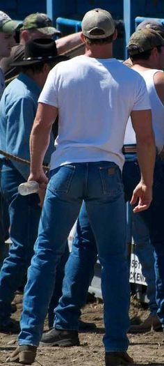A nice pair of jeans always does a guy justice.