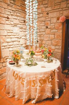 Cake Table Display {Heavenly Day Event Coordination} #cakes #weddings