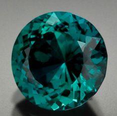 Greenish Blue Tourmaline Round Cut 5.12 carat