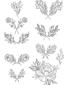 50 Arm Floral Tattoo Designs for Women 2019 - Page 19 of 50 - Flower Tattoo Designs - Blumen Mini Tattoos, Body Art Tattoos, Small Tattoos, Petite Tattoos, Illustration Blume, Tattoo Style, Tattoo Zeichnungen, Floral Tattoo Design, Flower Doodles
