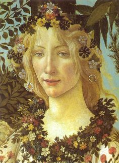 BOTTICELLI (1445-1510, Italy) Spring  (detail) c. 1482