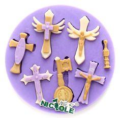 ( 2pcs/sacco), fai da te stampi in silicone per la decorazione di una torta caramella scaglie di sapone mini stampo stile cross di zucchero al cioccolato stampo fondente