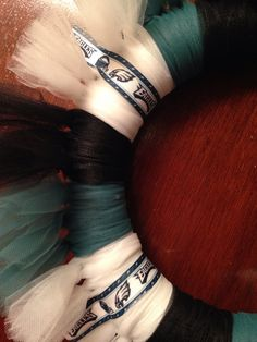 NFL Philadelphia Eagles Tulle Wreath by IsabeauGrace on Etsy, $20.00