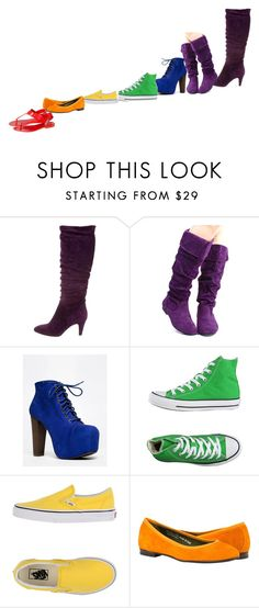 """Shoes Galore!"" by ninjakittyk on Polyvore featuring Brian Atwood, Qupid, Speed Limit 98, Converse, Vans and Melissa"
