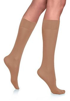 cd43a8b6d08 Lupo Loba Women s Comfort Top Opaque Knee High Socks