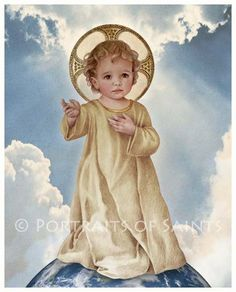 Savior of the World, Infant Jesus, Christ Child, Catholic Art Print