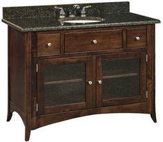 """Oak - Caledonia49"""" Vanity - Amish Furniture"""