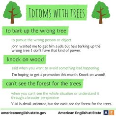 Idioms with TREES #learnenglish