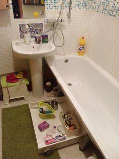 Ящик под ванну. Используем труднодоступное пространство