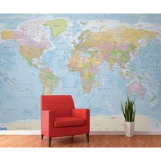 Best world maps wall maps decoupage and stenciling 1 wall world map wall mural sciox Choice Image