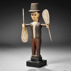 Man in Top Hat Whirligig | Sale Number 2786B, Lot Number 114 | Skinner Auctioneers
