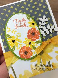 Stampin' Up! Beautiful Bouquet Touches of Nature cards, embossing paste by Patty Bennett