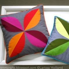 mmmcrafts: make a four leaf pillow cover with piping! : mmmcrafts: make a four leaf pillow cover with piping! Sewing Pillows, Diy Pillows, Decorative Pillows, Cushions, Throw Pillows, Applique Pillows, Pillow Ideas, Soft Pillows, Cushion Covers