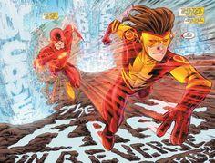 The Flash (wally west) vs Kid Flash (bart Allen) Best Superhero, Superhero Design, Marvel Vs, Marvel Dc Comics, The Flash New 52, Dc Speedsters, O Flash, Reverse Flash, Justice Society Of America