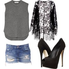 Untitled #135 by sophia-solzbacher on Polyvore featuring polyvore мода style Alexander Wang Pussycat Giuseppe Zanotti