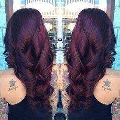 Ombré hair cerise : la couleur tendance pour les brunes - 22 photos - Tendance coiffure                                                                                                                                                                                 Plus