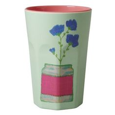 Rice Melamine Hand Painted Flower Cup