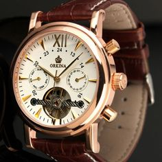 (110.00$)  Buy here  - Six stitches automatic mechanical watch calendar Men's watch with business helps skin L92
