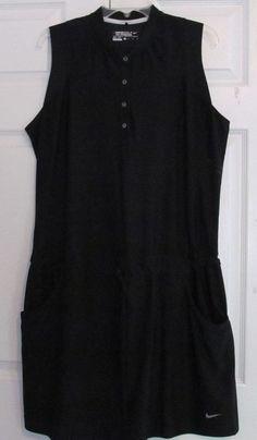Nike Golf Dress, Size XL, Black, Draw String At Waist, 4 Button Placket, NWOT #Nike