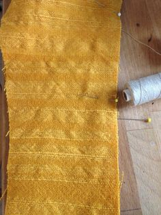 Reproduction of a lining to a uniform from 18th century. Wool. Dyed with reseda Maria Neijman