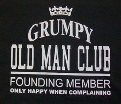 """Grumpy Old Man Short Sleeve Tee Perfect for all those """"old grumps"""" in your life…"""
