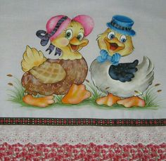 Patitos Tole Painting, Fabric Painting, Painting On Wood, Pictures To Paint, Cute Pictures, Pinterest Pinturas, Chicken Quilt, Acrilic Paintings, Jungle Art