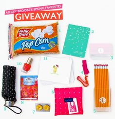 My Spring Favorites Giveaway is here!!! Head on over to the blog to enter for your chance to win this box of goodies!!  Enter here--> http://bit.ly/HEABm6  P.S. Don't forget to facebook, tweet, and repin this for extra entries!  (giveaway ends on April 18, 2012)
