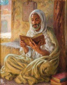 Reading the Quran by Etienne Dinet (Nasreddine Dinet).