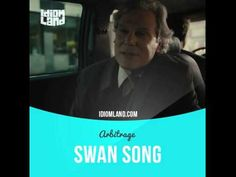 """""""Swan song"""" is a final action before retirement or death. Text in the clip: - Anyway, I'm here to tell you... I cleared it. - The audit's cleared? - The report will be issued today. Actually, I'm calling it my swan song. - You're leaving? - Yeah, on Friday. You know, it's a five-year clock. - And why? #idiom #idioms #slang #english #saying #sayings #expression #expressions #learnenglish #studyenglish #language #vocabulary #efl #esl #tesl #tefl #toefl #ielts #swansong #richardgere #arbitrage"""