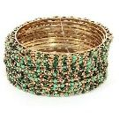 18kt Multi Coloured Diamond Leopard Bangle - Classic Creations