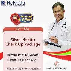 #HelvetiaDiagnostics offers #Silver #health checkup #package at amazing #price of just Rs.2400 instead of Rs.4630 for this #festive season.  We are offering up to 50% #discounts on our other #health packages for this #festive #offer. Book online #appointment now: https://goo.gl/mwbVh7  #health #healthcare #wellness #healthissues #healthpackages #womenhealth #menhealth #healthpackages #southdelhi #greaterkailash1 #GK1 #Delhi #Gurgaon #NCR
