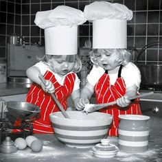 ✩⋆ Red Color Splash ⋆✩ Red and Grey ⋆✩ Kids in the kitchen