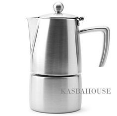 Ilsa Slancio Stovetop Espresso Maker 6 Cup For Sale Espresso Machine Reviews, Coffee Maker Reviews, Best Coffee Maker, Espresso Coffee Machine, Cappuccino Maker, Espresso Maker, Coffee Machines For Sale, Electric Wine Opener